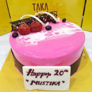 simple elegant cake takadeli indonesia