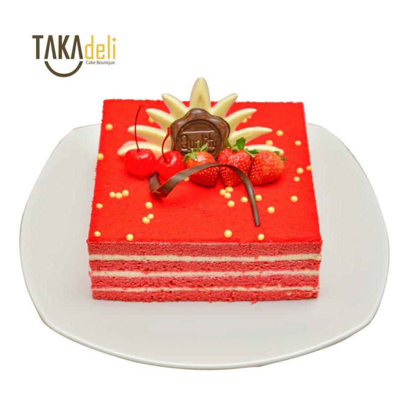 red velvet cake takadeli