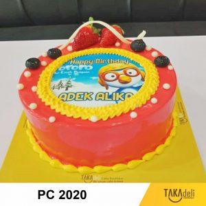 photo cake murah lucu warna merah takadeli