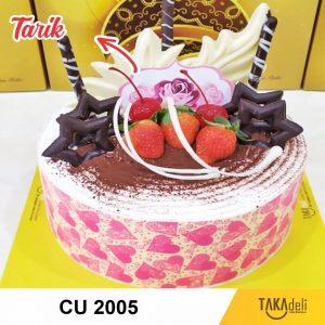 cake uang takadeli model pink